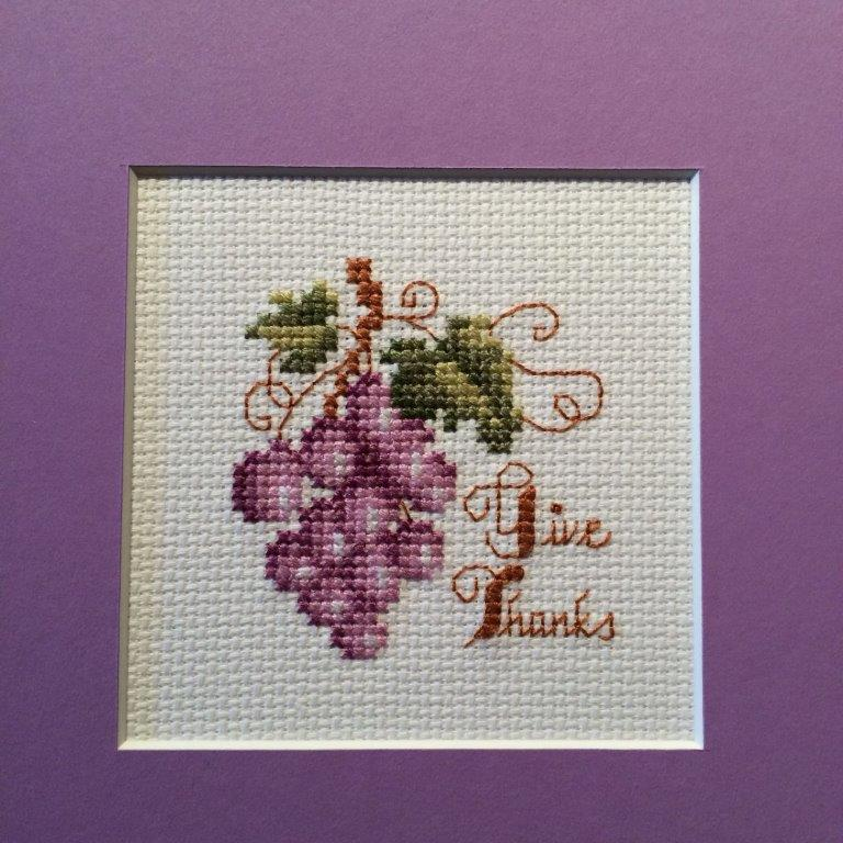 Square Framed ~ Grapes