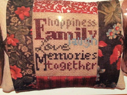 Tie on Pillow ~ Family
