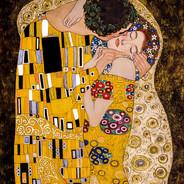 Gustov Klimt's The Kiss