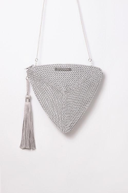 Bolso de fiesta Alejandra · gris perla