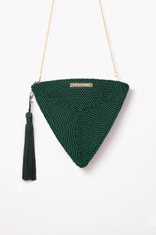 Bolso de fiesta Alejandra · verde esmeralda