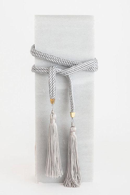 Cinturón de cordón Trinidad · gris perla