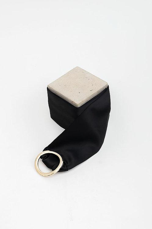 Cinturón de raso María · negro