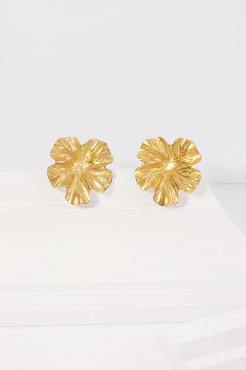 Pendientes Marina · hojas doradas