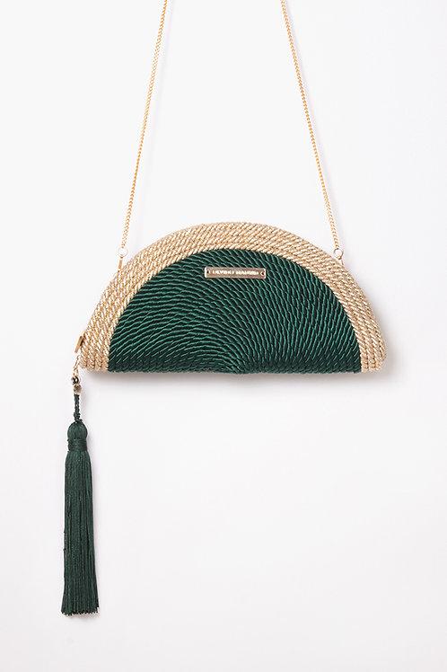 Bolso de fiesta Carmen *BICOLOR* · verde esmeralda & dorado