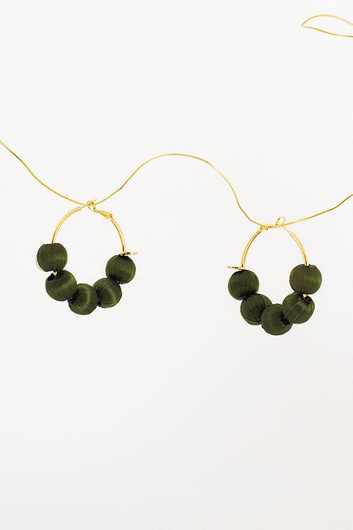 Pendientes Rosalía · verde oliva