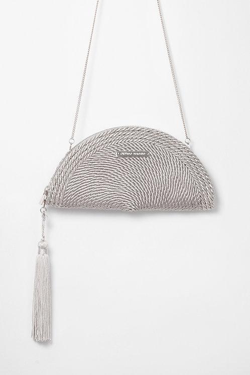 Bolso de fiesta Carmen *BICOLOR* · gris perla & plata