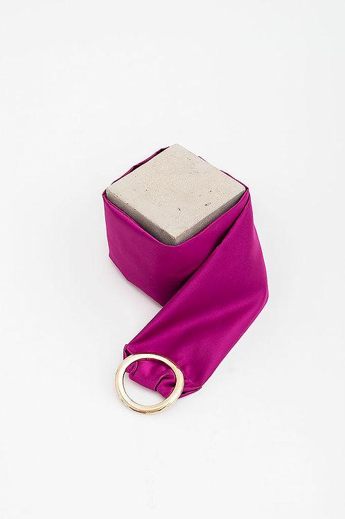 Cinturón de raso María · buganvilla
