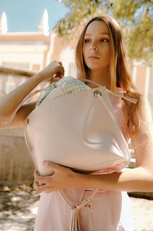 Tote Bag Bea · Piel Rosa Pastel