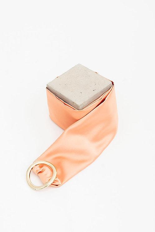 Cinturón de raso María · rosa nude