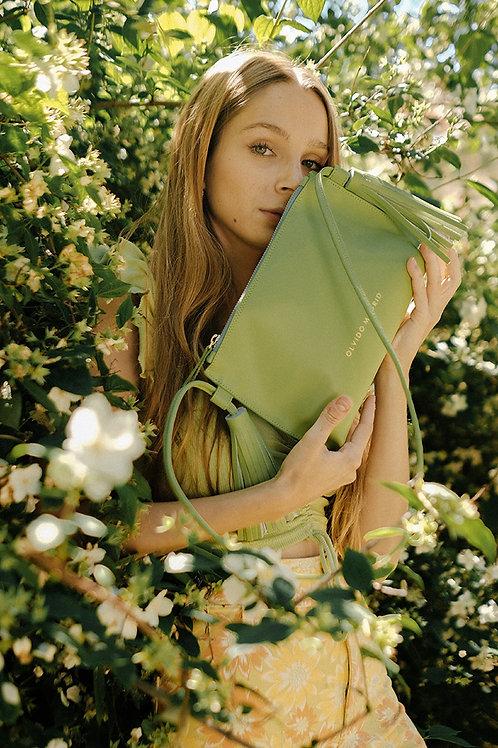 Bolso Esther · Piel Premium Verde Pistacho