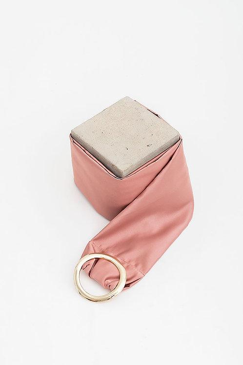 Cinturón de raso María · rosa
