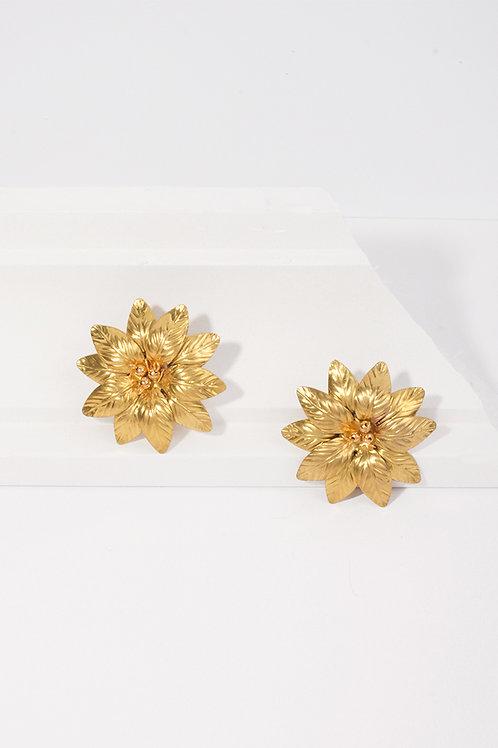 Pendientes Flor · pistilos dorados