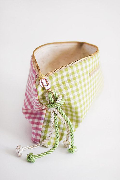 Pouch Vichy · Pink & Mint