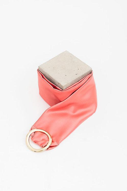 Cinturón de raso María · rosa coral