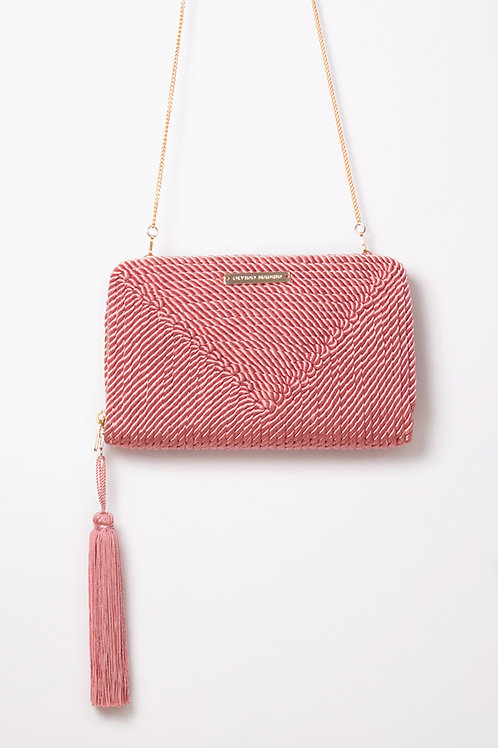 Bolso de fiesta Jimena · rosa pastel
