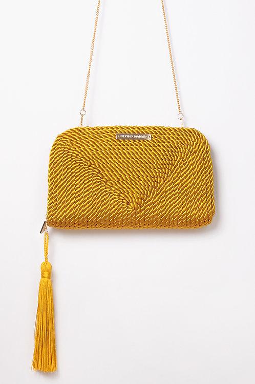Bolso de fiesta Jimena · amarillo vintage