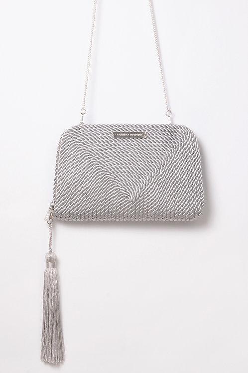 Bolso de fiesta Jimena · gris perla