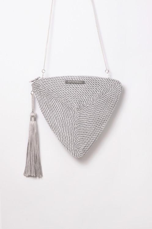 3ce41e62548 Bolso de fiesta Alejandra · gris perla