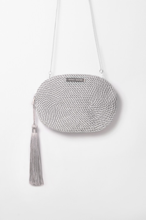 2fbc74fec16 Bolso de fiesta Antonia · gris perla