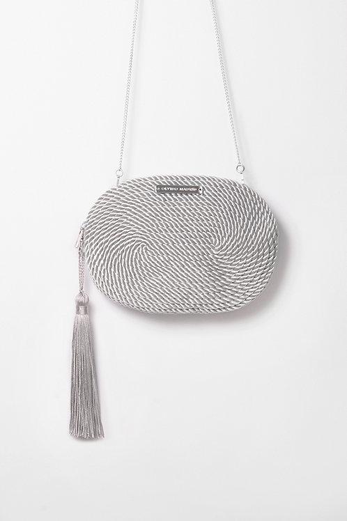 Bolso de fiesta Antonia · gris perla