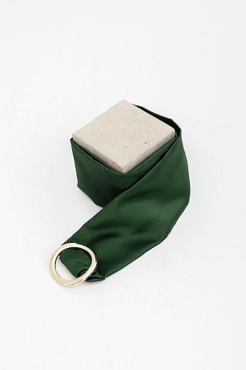 Cinturón de raso María · verde