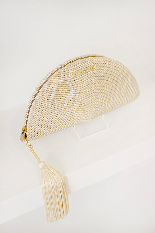 Bolso de fiesta Carmen · blanco perla