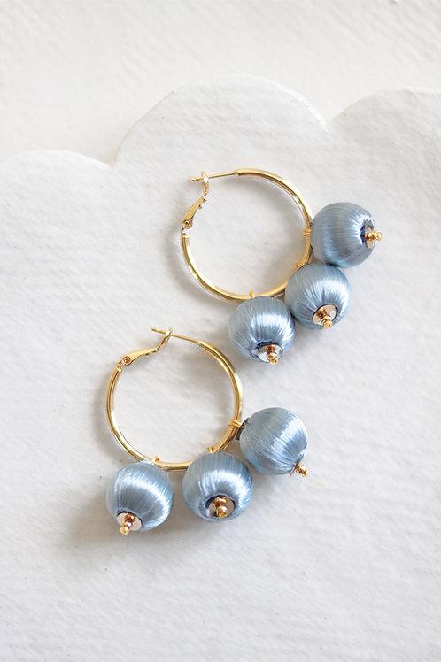 Pendientes Mini-Rosalía · azules