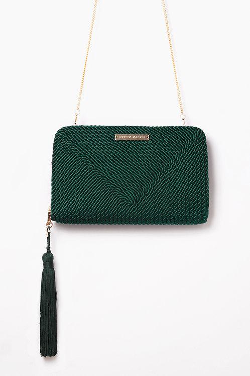 Bolso de fiesta Jimena · verde esmeralda
