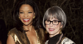 Pamela Joyner and Rita Moreno