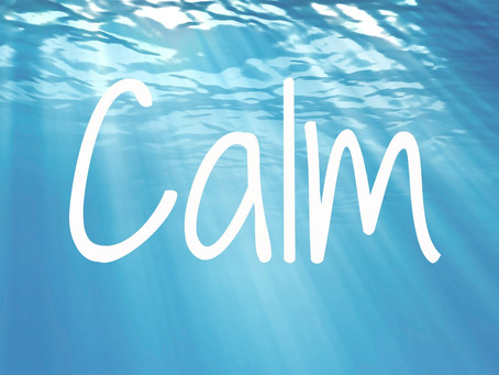 Doing this one thing helps to keep you calm.