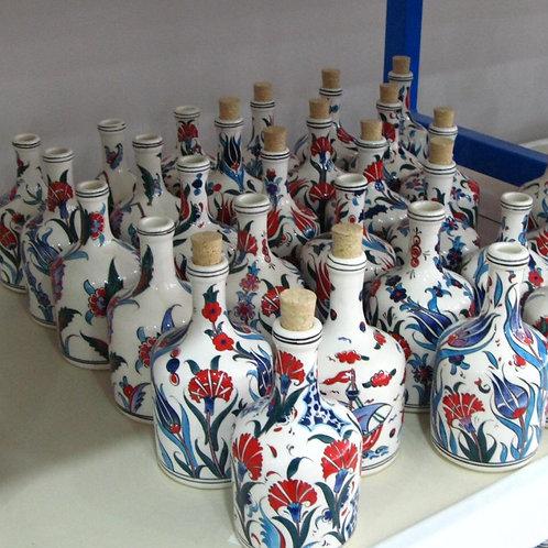 20 cm UNIQUE TURKISH CERAMIC OLIVE OIL BOTTLE, 5 BOTTLES