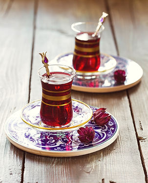 Turkish pomegranate tea in a traditional