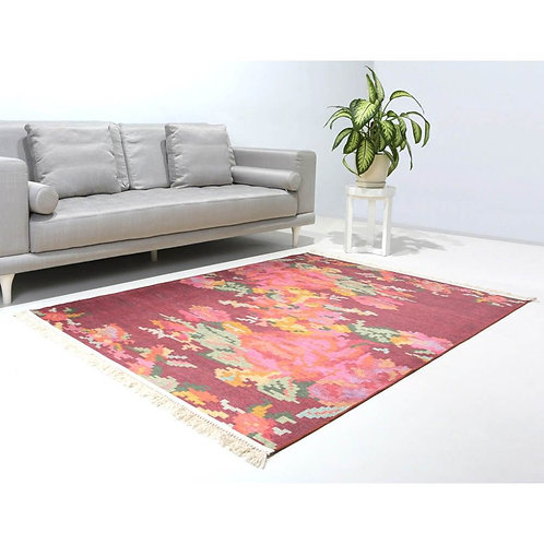 TURKISH KILIM INSPIRED CARPET, ROSE