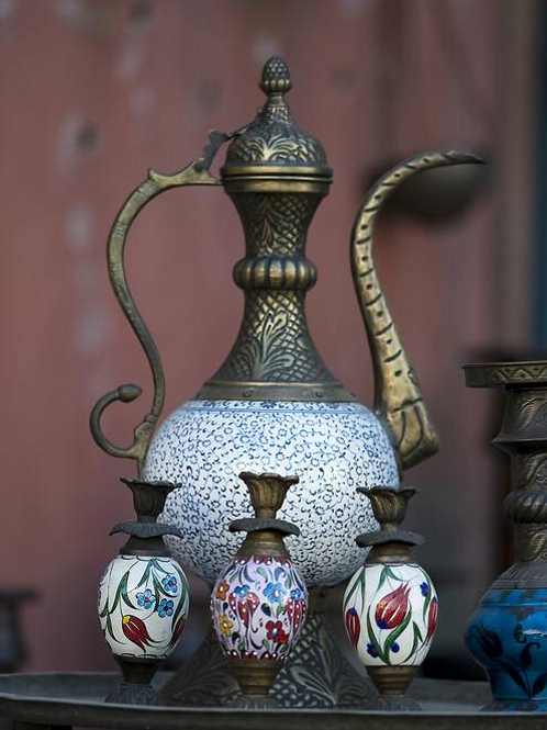 GOLDEN HORN TURKISH CERAMIC IBRIK, 30 cm