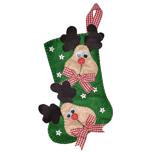 HANDMADE FELT CHRISTMAS STOCKING