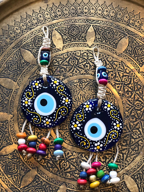 "EVIL EYE WALL HANGING GIFT SET, 25 x 9 cm ( 9 . 8 "" x 3 . 5 "" )"