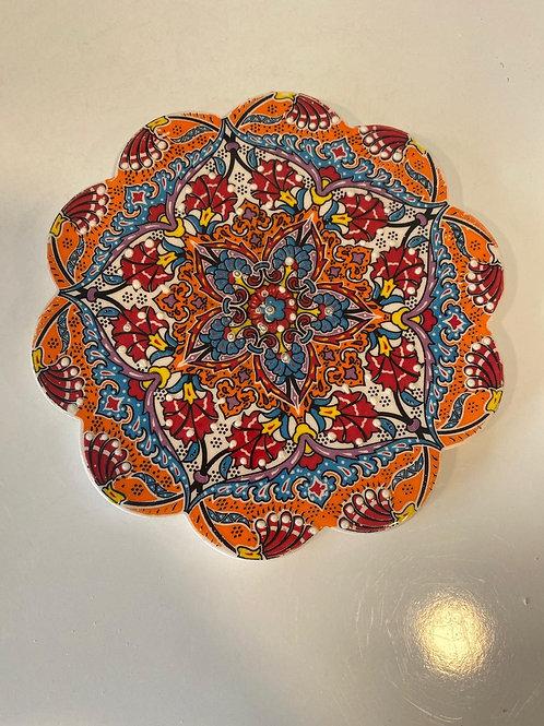 "LARGE TURKISH CERAMIC COASTER, 18 cm (7""), 015"