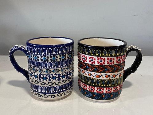 30 x ASSORTED LYKIA STYLE CERAMIC COFFEE CUPS