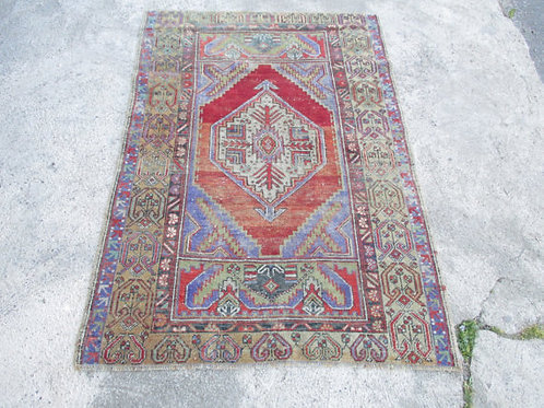FADED OUSHAK RUG, 5.2' x 3.6' ft ( 160 x 111 cm )