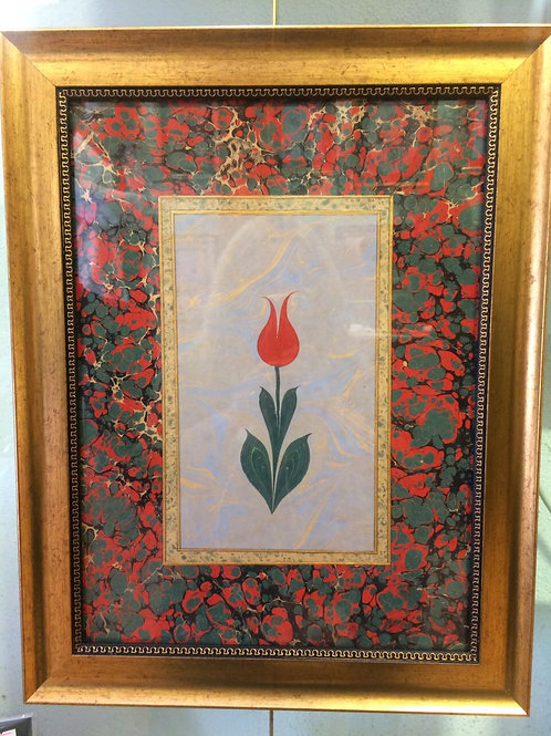 TURKISH EBRU ART WITH FRAME