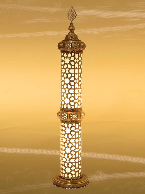 OTTOMAN LANTERN STYLE FLOOR LAMP,