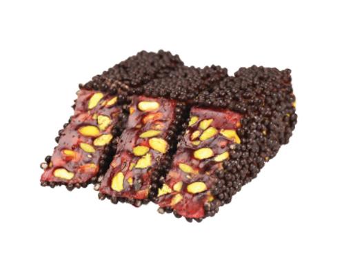 10X Rice Crispy Chocolate Coated Pomegranate  Flavor Pistachio Delight , D023
