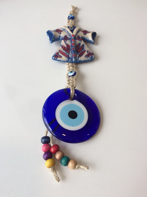 """EVIL EYE WALL HANGING WITH CAFTAN, 25 cm (9.8"""")"""