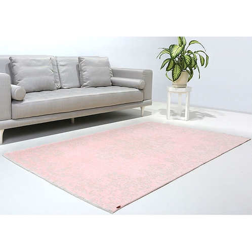 PINK AND BEIGE TURKISH REVERSIBLE CARPET, WASHABLE