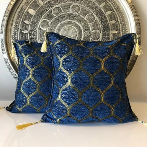 ORIENTAL TURKISH PILLOW, BLUE