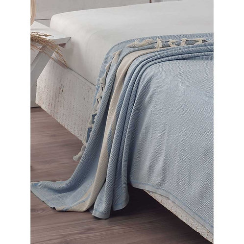 ORGANIC PESHTEMAL BED COVER, EXTRA LARGE, 012