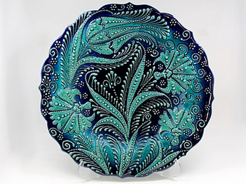 ANTIQUE STYLE TURKISH CERAMIC PLATE, 30 CM