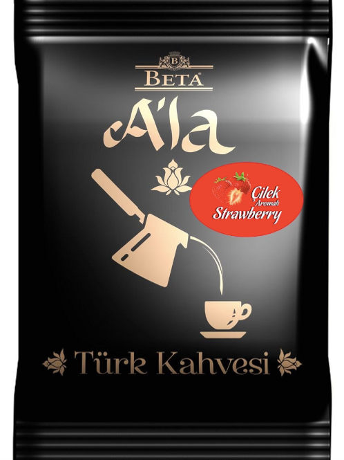 25 x TURKISH COFFEE WITH STRAWBERRY FLAVOUR, 100 GR