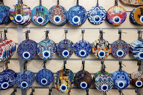 50x ASSORTED EVIL EYE WALL HANGING